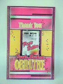 Handmade Thank You Card | Funke Bucknor Obruthe