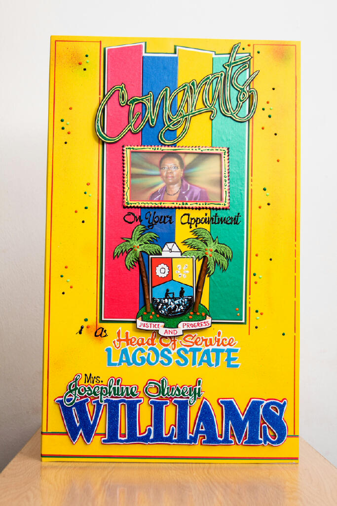 Appointment Greeting Card | Lagos State Head Of Service - Crafts Village Studio