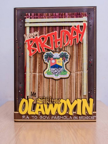 mat pattern birthday card