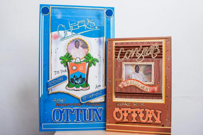 Retirement Greeting Card  Lagos State Office